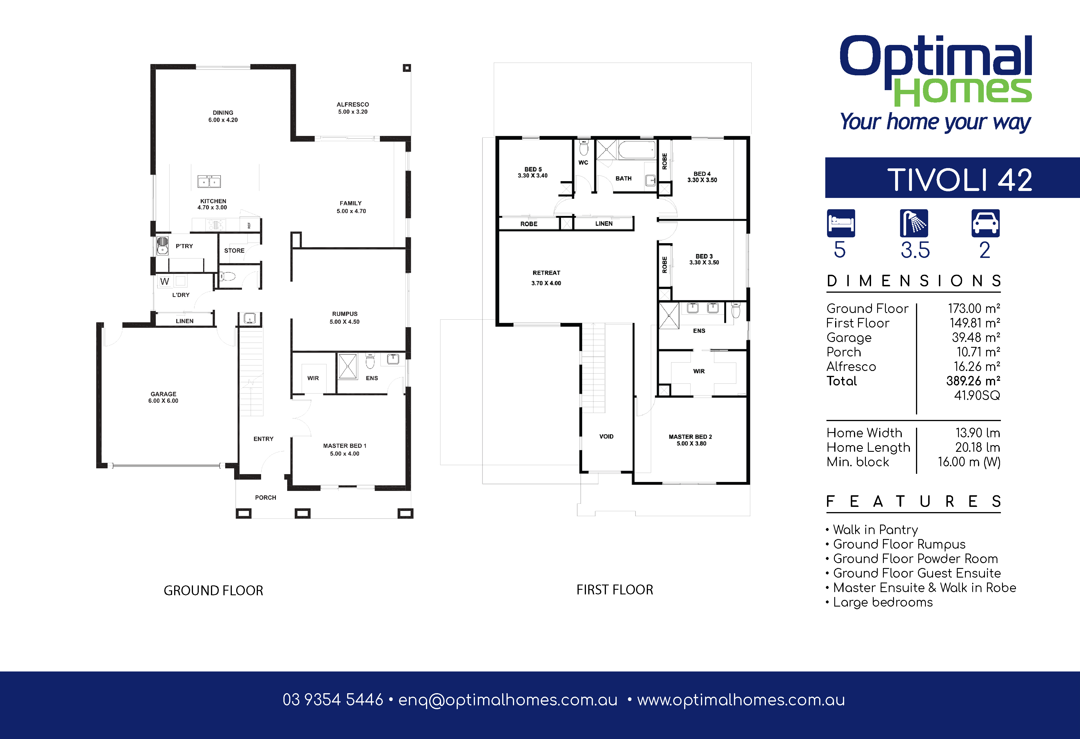 Tivoli 42 Floor Plan