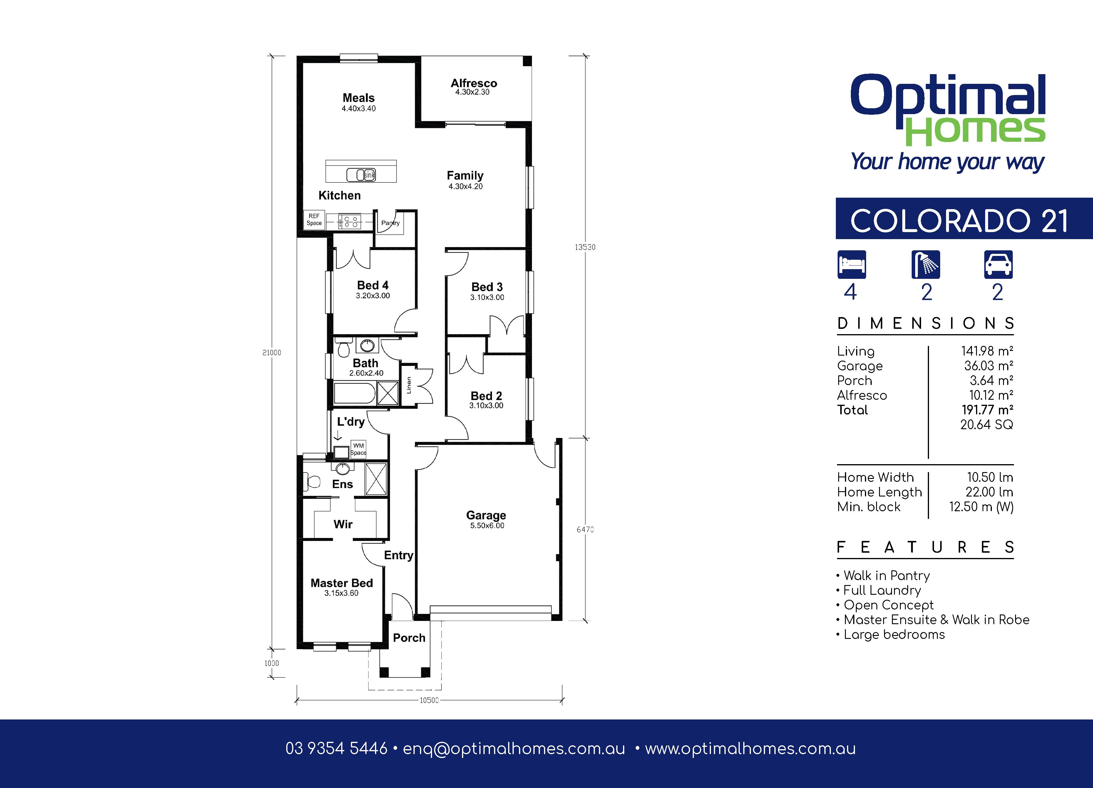 Colorado 21 Floor Plan