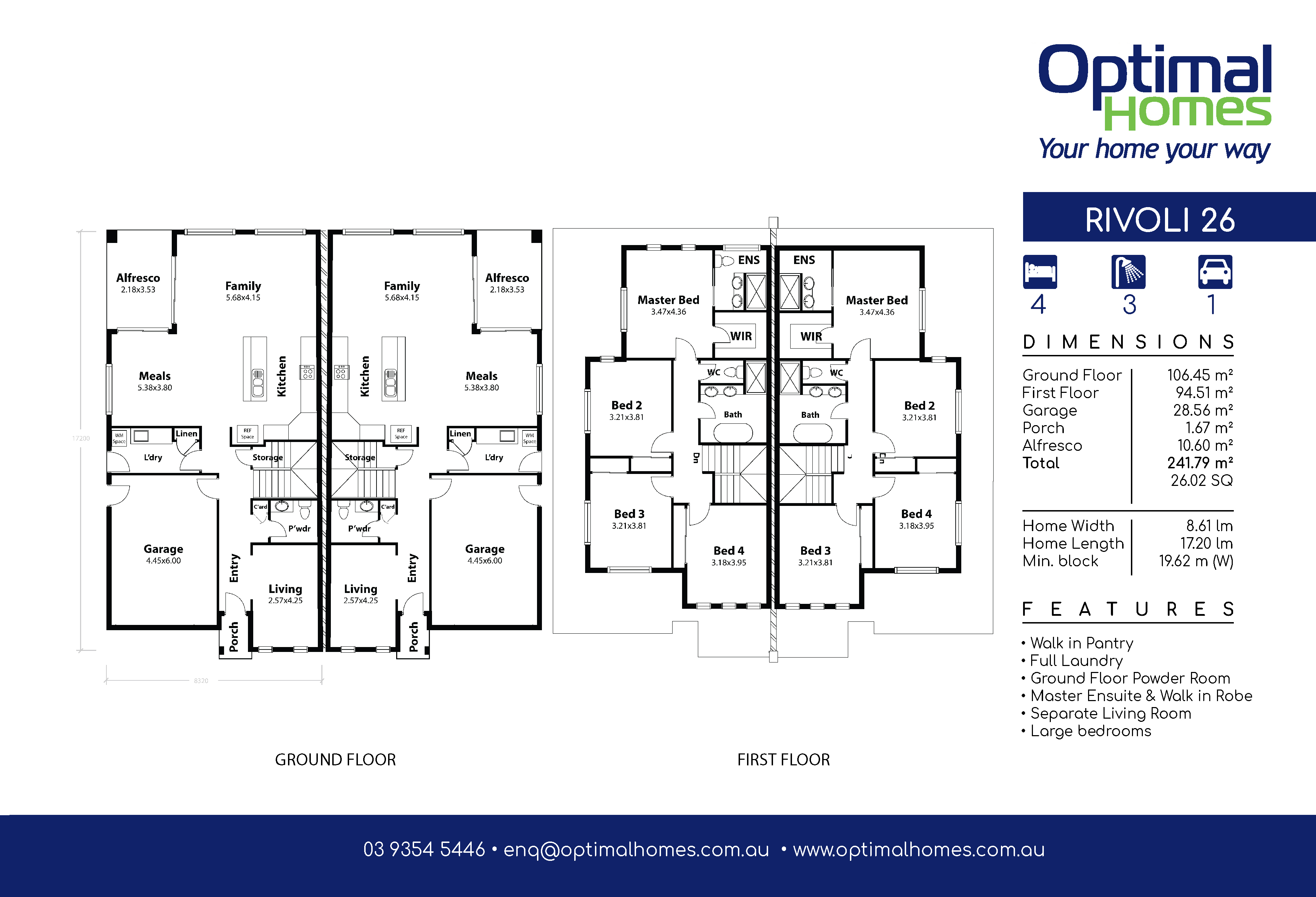 Rivoli 26 Floor Plan