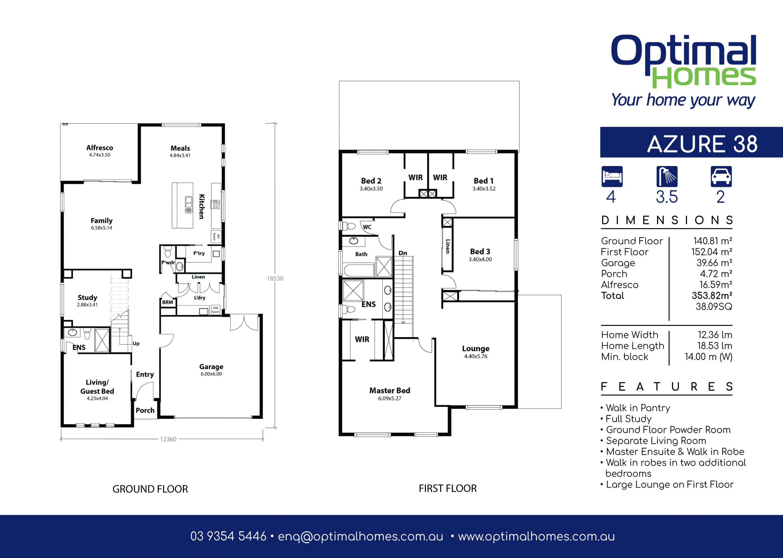 Azure 38 Floor Plan